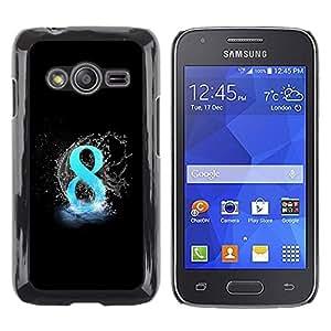 LECELL -- Funda protectora / Cubierta / Piel For Samsung Galaxy Ace 4 G313 SM-G313F -- 8 Ball Blue Black --