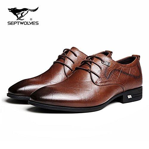la 44 Scarpe Scarpe Uomo punta Autunno dellattuale Aemember e tempo sono uomini gli libero scarpe marrone selvatico Business vSqaddwUnF