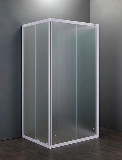 Box Doccia Scorrevole 3 Ante.Box Doccia 3 Lati 70x90x70 Cm 2 Ante Scorrevoli In Cristallo Opaco