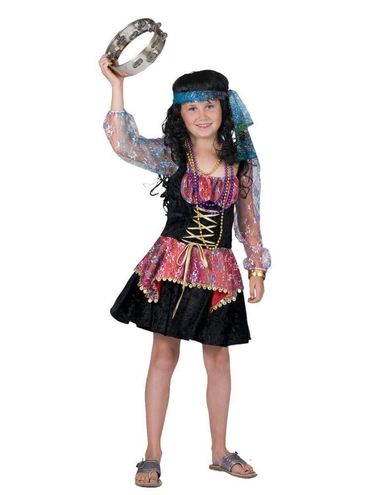 Disfraz Zíngara Niña T.128: Amazon.es: Juguetes y juegos