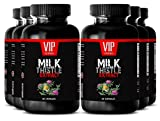 Vitamins for immune system - MILK THISTLE EXTRACT - Metabolism booster for weight loss - 6 Bottle 360 Capsules