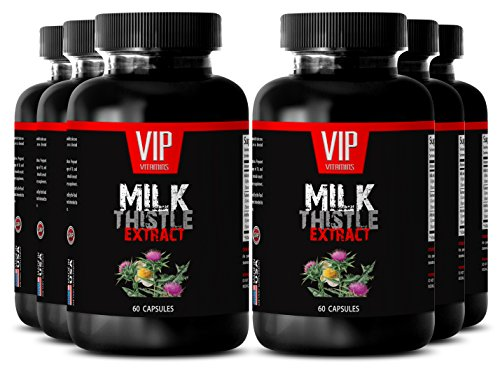Herbal cleanse - MILK THISTLE EXTRACT - Natural detox - 6 Bottle 360 Capsules by VIP VITAMINS
