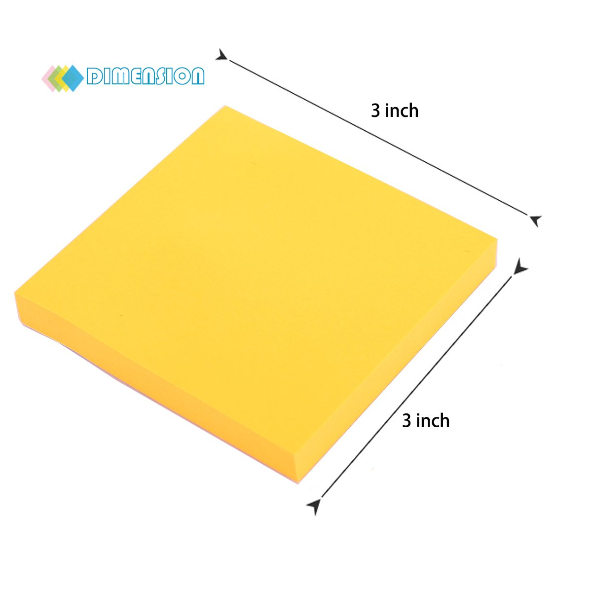 Sticky Notes, 3 in x 3 in, 12 Pads/Pack,100 Sheets/Pad, 6 Bright Colors Self-Stick Notes for Home,Office, School, Easy Post. by ERBAO (Image #7)