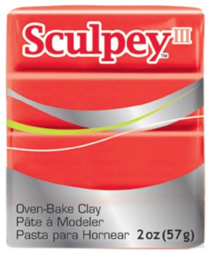 Sculpey III Polymer Clay 2 Ounces-Red Hot Red