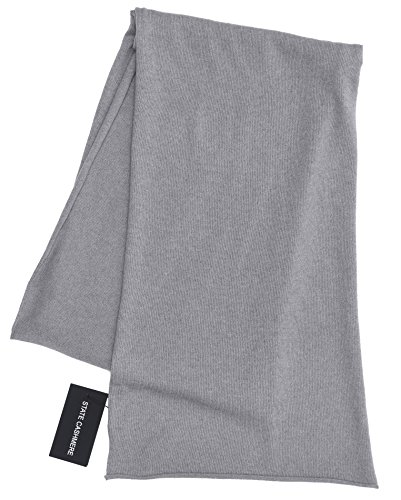 Cashmere Knit Scarf - State Cashmere 100% Pure Cashmere Solid Color Scarf Wrap, Ultimate Soft and Cozy 80