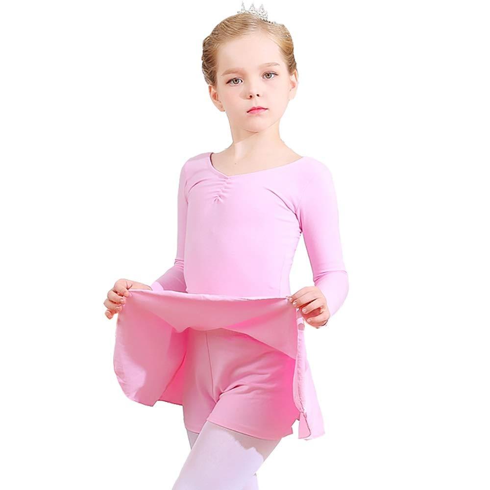 Rose(long Sleeve) Xiao Jian-Vêtements de Danse - Vêtements pour Enfants - Danse féminine - Ballet - Jupe Split - Printemps et été - Lycra - Coton - Manches Longues - Vêtements d'exercice - Costume - Pantalon pour enf