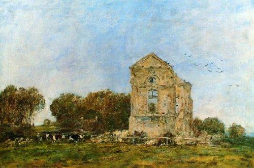Eugene-Louis Boudin Deauville, Ruins of the Chateau de Lassay - 18.05