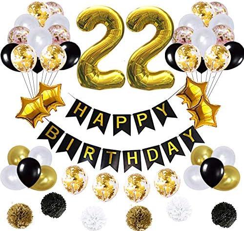 22 بالون لعيد الميلاد لافتة عيد ميلاد سعيد بالونات مايلر ذهبية بالونات لاتكس العدد 22 بالون رقاقة ذهبية Amazon Ae