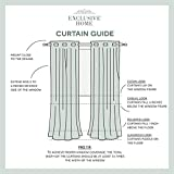 Exclusive Home Curtains Indoor/Outdoor Solid Cabana Grommet Top Curtain Panel Pair, 54x120, Blush
