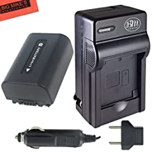 NP-FV50 Battery And Battery Charger for Sony HDR-CX190 HDR-CX200 HDR-CX210 HDR-CX220 HDR-CX230 HDR-CX290 HDR-CX380 HDR-CX430V Handycam Camcorder + More