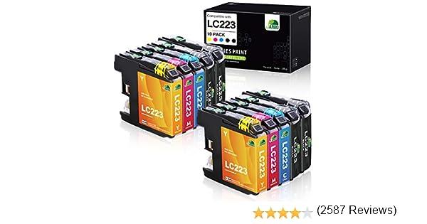 JARBO Compatible Brother LC223 XL Cartuchos de tinta Gran Capacidad para Brother DCP-4120DW DCP-J562DW MFC-J480DW MFC-J680DW MFC-J880DW MFC-J4420DW MFC-J4620DW MFC-J4625DW MFC-J5320DW MFC-J5620DW MFC-J5625DW MFC-J5720DW (4 Negro, 2 Cian, 2 Magenta, 2 ...