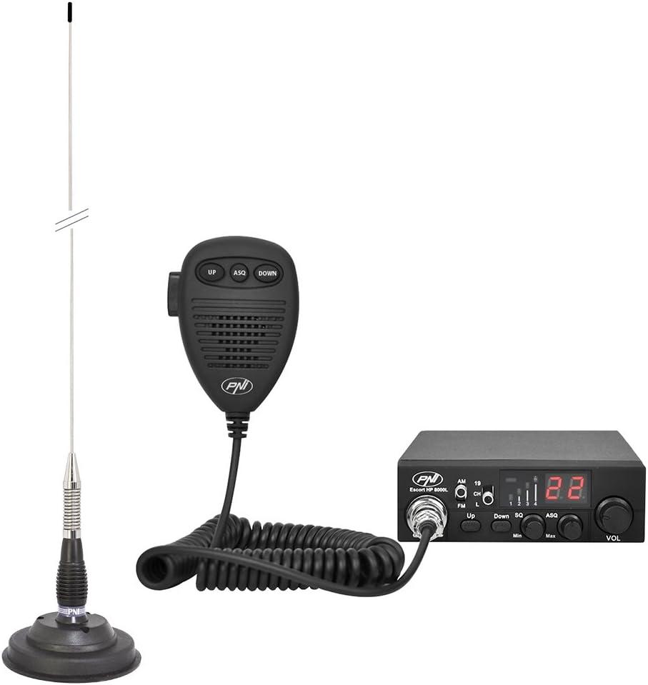 CB Radio PNI Escort HP 8000L ASQ + Antena CB PNI ML100