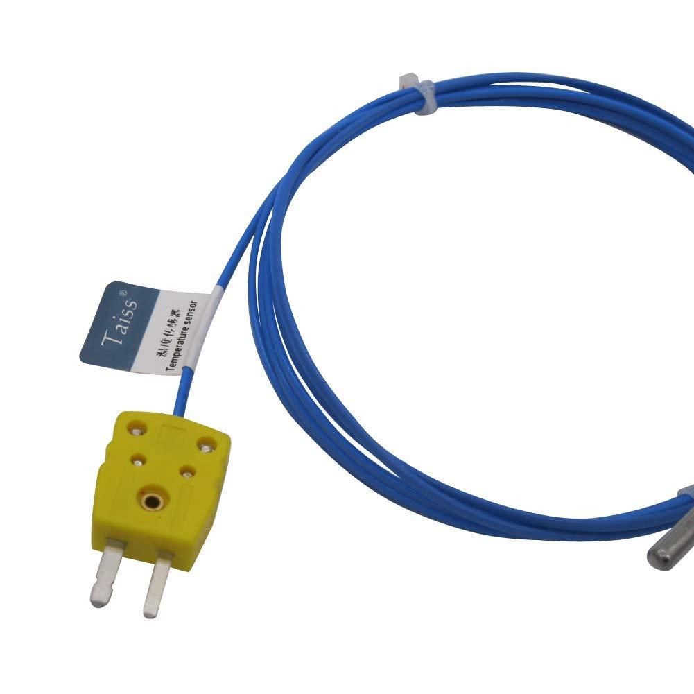 Long Probe 30MM Temperature Range from Waterproof K-Type Sensor Probes Metal HeadProbe for K-Type Probe Thermocouple Sensor /& Meter Temperature Controller 50 to 200 /°C TA-6340-W