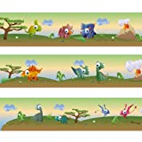 Wandkings border ''Colourful Dinosaurs'' Length: 177 inch, self-adhesive, for children's rooms