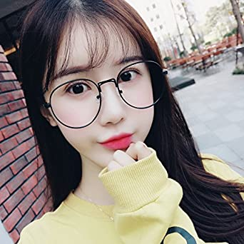 50f9aed1bf4 Sunyan Glasses box girl retro big box round face new flat optical glass  lens men s non-Korean version available with short-sighted glasses