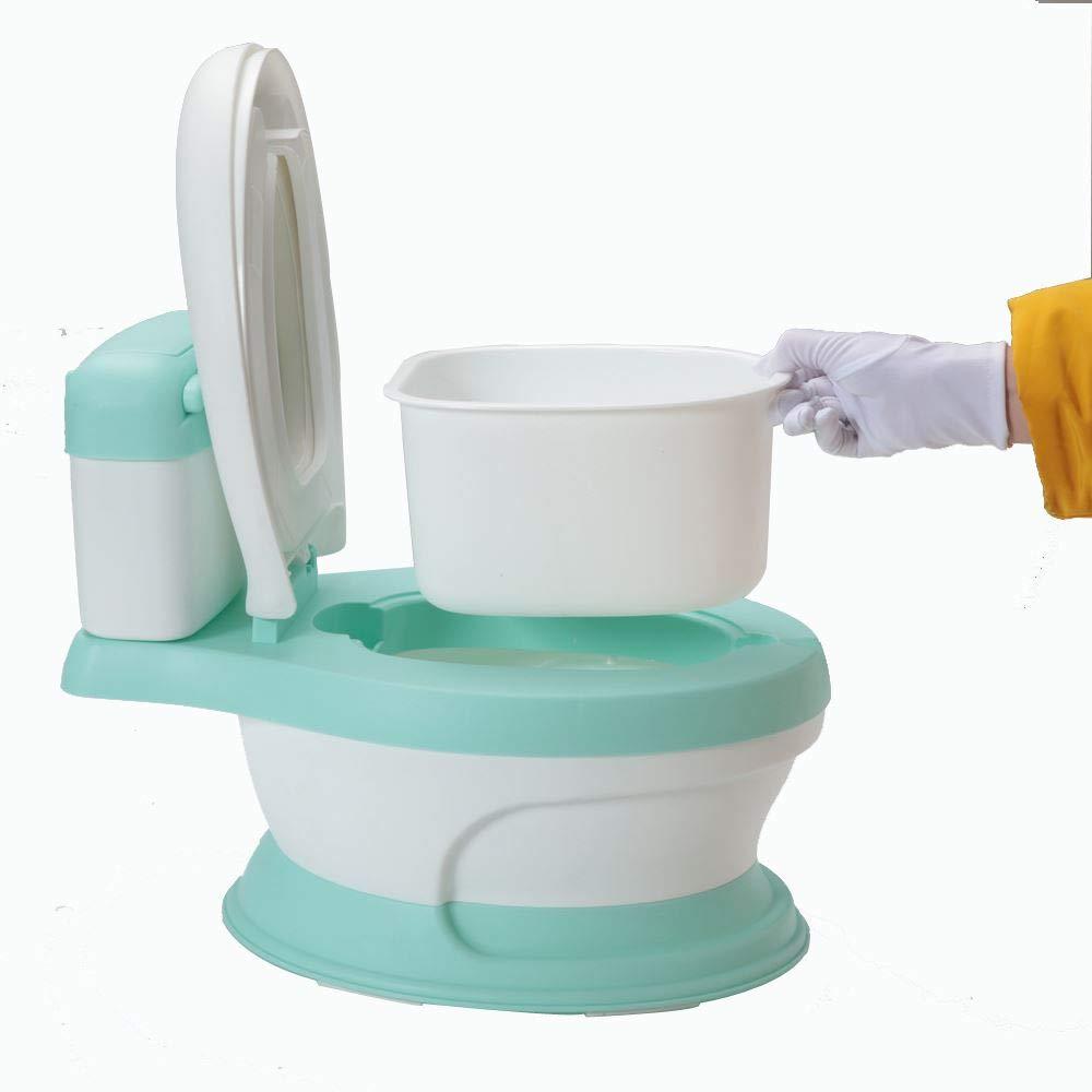 r/éducteur de toilette avec marchepied antid/érapants et protection anti-/éclaboussure/ Babyhugs/©/ /Bleu /Pot pour b/éb/é 3/en 1/Motif canard