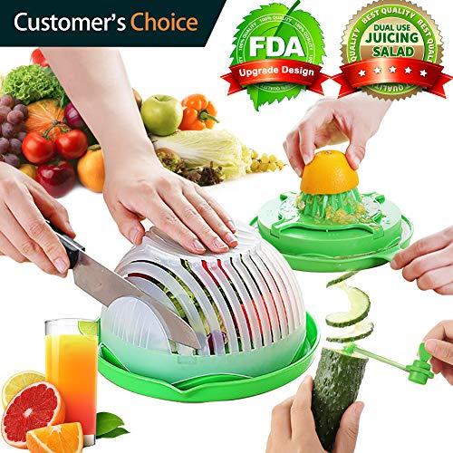 Golbox SLCB3 SLCB Salad Cutter Bowl L GREEN