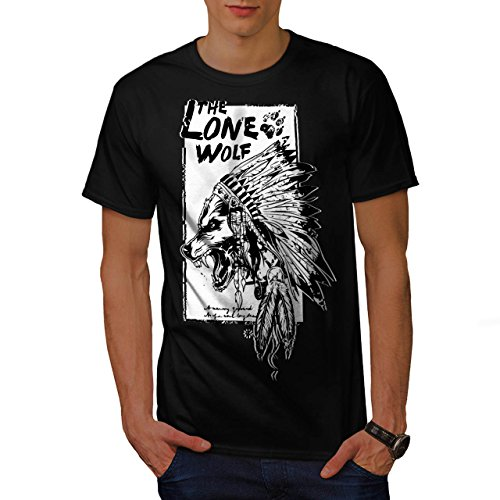 [The Lone Wolf Indian Wild Pack Men NEW M T-shirt | Wellcoda] (Bear Jew Costume)