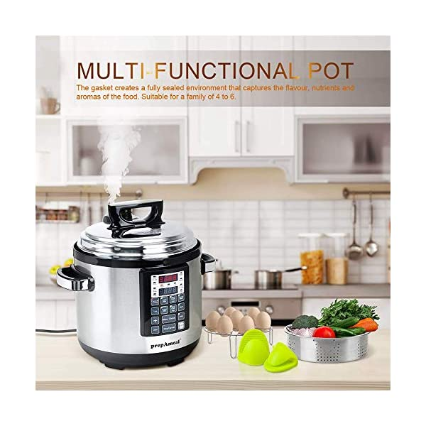 prepAmeal 6QT 8-IN-1 ( 3 Speeds Options ) Pressure Cooker with Accessories Set, Multi-Use Programmable Instant Cooker… 2