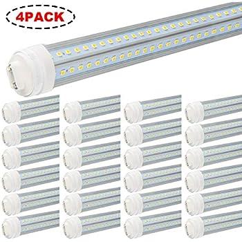 WYZM 10-Pack 40W 8ft LED Tube (R17d) Base T12 LED Tube Light ... on