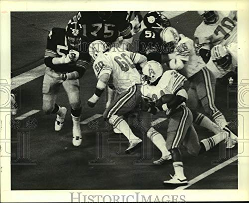 1978 Press Photo Houston Oilers Earl Campbell runs around end in Pittsburgh game