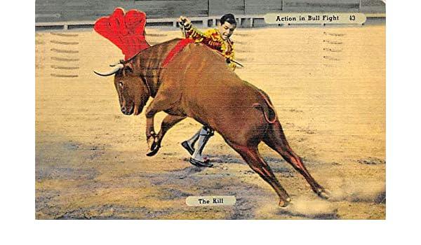 Action in Bull Fight, The Kill Tarjeta Postal Bullfighting ...