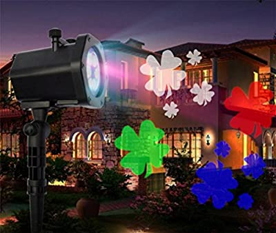 Outdoor Projector Lights, 12 Images Christmas Halloween Birthday Decoration Projector Fairy Landscape Home Party