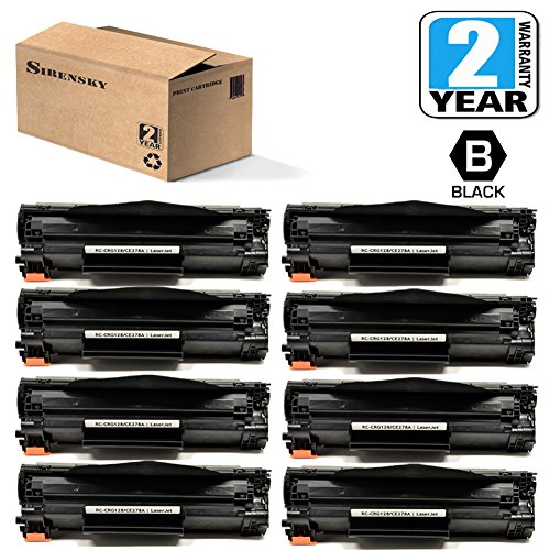 Canon 128 Toner Cartridge 8 Pack Black Replacement for CR...