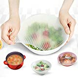 Iuhan Silicone Food Wrap Reusable Seal Cover Stretch Fresh Keeping Kitchen Tools (Size: 15cmX15cm/5.91''X5.91'', White)