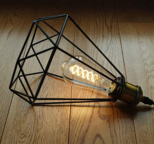 8W Vintage LED Edison Bulbs, Warm White 2700K, Antique LED Filament Light Bulbs, Dimmable 8W Equivalent to 60W, ST64 (ST21) 800LM E26 Medium Base (8W-2700K-6 Pack)