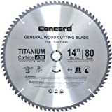 Concord Blades WCB1400T080HP 14-Inch 80 Teeth TCT General Purpose Hard & Soft Wood Saw Blade