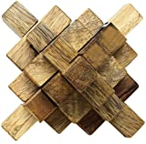SKAVIJ 3d Wooden Puzzle Brain Teasers Toy Intelligence Game Handmade Toy for Teen Adults and Kids