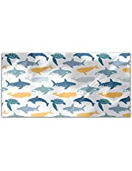 Sea Animals Rectangle Tablecloth Large Dining Room Kitchen Woven Polyester Custom Print