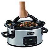 Crock-Pot Single Hand Cook & Carry 6-Quart Oval Slow Cooker, SCCPVZ600EC-S