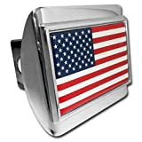 American Flag Chrome-plated Hitch Cover