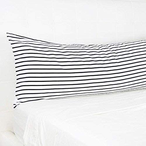 Amazon.com: ThisNew Stripe Long Body Pillow 20x54 Inch Black and
