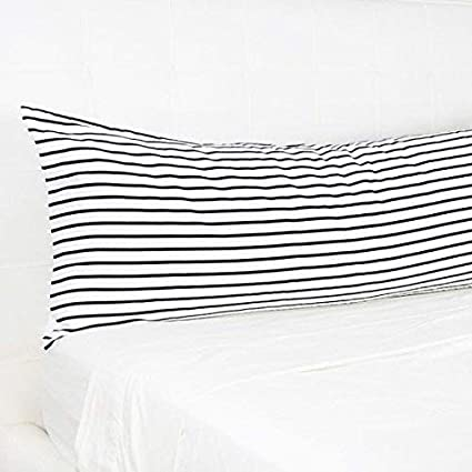 Body Pillow Covers.Amazon Com Thisnew Stripe Long Body Pillow 20x54 Inch Black And
