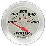 Equus 8462 2-5/8'' Electric Water Temperature Gauge, White with Aluminum Bezel