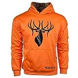 King's Camo Blaze Poly Logo Hoodie-Blaze Orange/ Desert Shadow-3XL