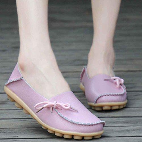 Kaiki Neue Frauen Erbsen Schuhe Krankenschwester Schuhe Freizeit Flache Frauen Beiläufige Schuhe Pink