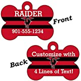 Texas Tech Red Raiders Double Sided Pet Id Dog Tag Personalized With 4 Lines of Text