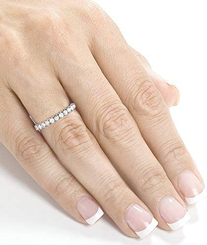 Kobelli Flame French Pave Lab Grown Diamond Comfort Fit Womens Wedding Band 1/2 CTW Platinum (DEF/VS)