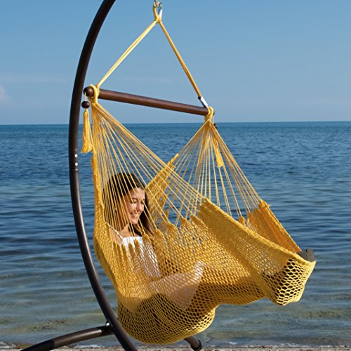 Caribbean Hammock Chair with Footrest - 40 inch - Soft-spun Polyester - - Hammock Small