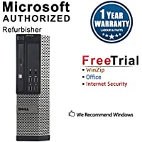 Dell 9010 Small Form Business High Performance Desktop Computer PC (Intel Core i5 3470 3.2G,8G DDR3,3TB,DVD-ROM,WiFi,W10P64)(Certified Refurbished)-Multi-Language Support English/Spanish