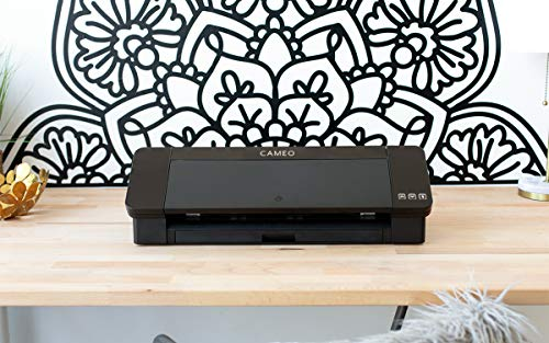 Silhouette Cameo 4 with Bluetooth, 12x12 Cutting mat, AutoBlade 2, 100 Designs and Silhouette Studio Software - Black Edition