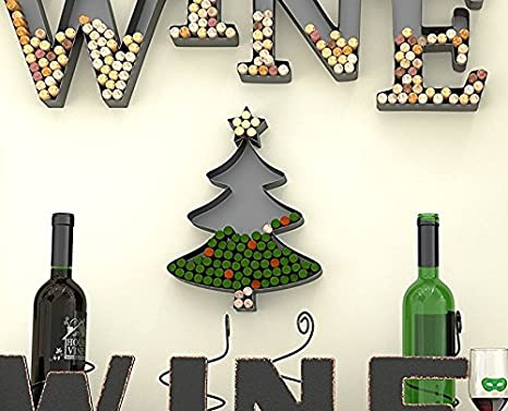 Christmas Tree Shaped Metal Cork Holder Wine Cork Crafts Decorative Wine Cork Holders Gifts For Wine Lovers Christmas Diy Decoration By