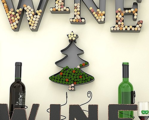 (Christmas Tree Shaped Metal Cork Holder - Wine Cork Crafts - Decorative Wine Cork Holders - Gifts for Wine Lovers – Christmas DIY Decoration - by HouseVines)