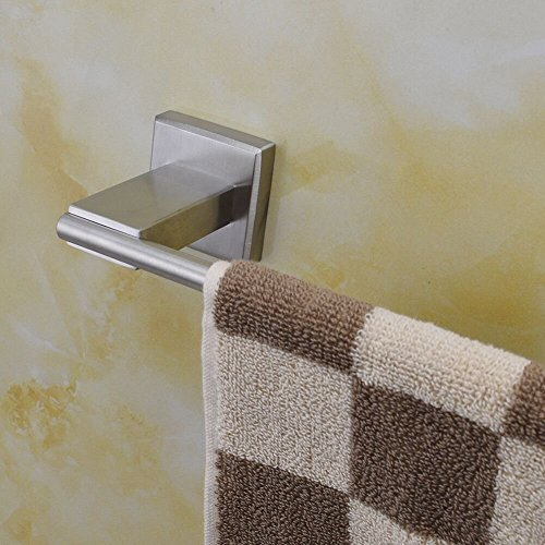 chic Leyden TM Bathroom Towel Bar Bath Towel Rack Hanging Single Towel Hanger Towel Bar, Brushed Finish SUS 304 Stainless Steel