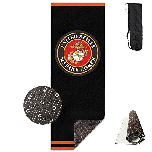 QNKUqz United States Marine Corps Deluxe Yoga Mat Aerobic Exercise Pilates