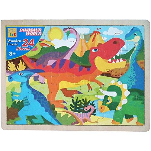 Dinosaur World Jigsaw Puzzle - Dinosaur World Wooden Jigsaw Puzzle